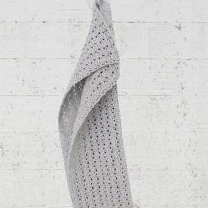 Handdoekje van recycled katoen in lichtgrijs